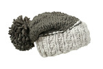 Coarse Knitted Hat With Pompon